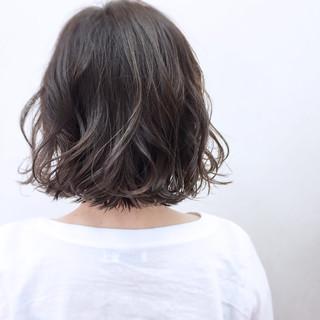 ゆるふわ ボブ グラデーションカラー リラックス ヘアスタイルや髪型の写真・画像
