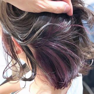 ピンク ストリート ピンクラベンダー ブリーチオンカラー ヘアスタイルや髪型の写真・画像