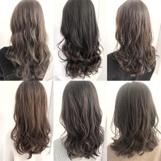 アッシュ デジタルパーマ イルミナカラー ゆるふわパーマ ヘアスタイルや髪型の写真・画像