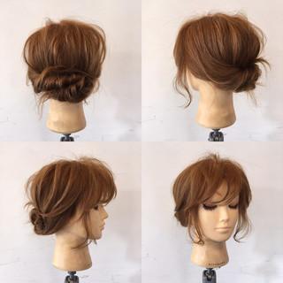 ねじり ショート フェミニン 簡単ヘアアレンジ ヘアスタイルや髪型の写真・画像