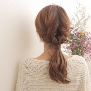 ポニーテール ロング ヘアアレンジ ショート ヘアスタイルや髪型の写真・画像