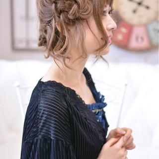 ヘアアレンジ 簡単ヘアアレンジ セミロング デート ヘアスタイルや髪型の写真・画像
