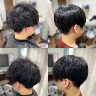 ツーブロック メンズカット 縮毛矯正 髪質改善トリートメント ヘアスタイルや髪型の写真・画像