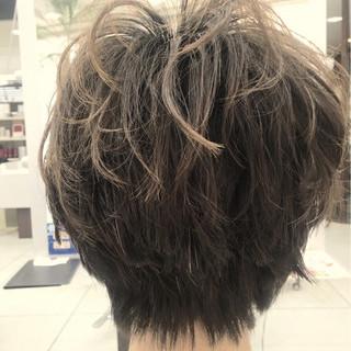 パーマ ショート 色気 ストリート ヘアスタイルや髪型の写真・画像