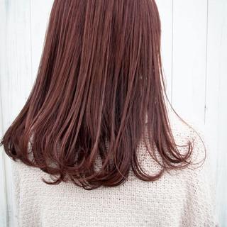チェリーレッド バイオレットカラー ナチュラル バイオレット ヘアスタイルや髪型の写真・画像