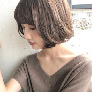 ボブ アンニュイほつれヘア デジタルパーマ ゆるふわパーマ ヘアスタイルや髪型の写真・画像
