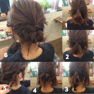 ヘアアレンジ ミルクティー ベージュ フェミニン ヘアスタイルや髪型の写真・画像