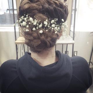 ヘアアレンジ ロング 大人女子 波ウェーブ ヘアスタイルや髪型の写真・画像