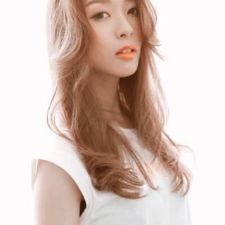ロング ゆるふわ 卵型 フェミニン ヘアスタイルや髪型の写真・画像