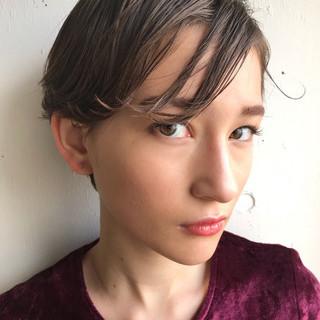 モード 大人かわいい ショート ハイライト ヘアスタイルや髪型の写真・画像