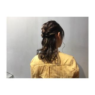 ヘアアレンジ オフィス ミディアム 結婚式 ヘアスタイルや髪型の写真・画像