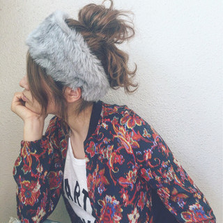 モード ウェットヘア ストリート 波ウェーブ ヘアスタイルや髪型の写真・画像
