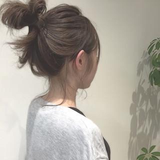 ヘアアレンジ ガーリー ミディアム ショート ヘアスタイルや髪型の写真・画像