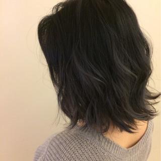 ボブ 冬 外国人風 アッシュ ヘアスタイルや髪型の写真・画像