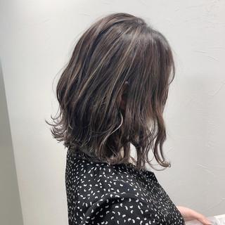 コンサバ コントラストハイライト ミニボブ ボブ ヘアスタイルや髪型の写真・画像