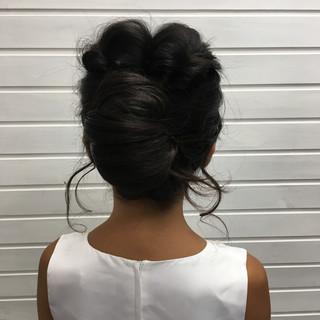 涼しげ エレガント 夏 結婚式 ヘアスタイルや髪型の写真・画像