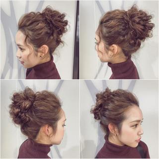 外国人風 ヘアアレンジ フェミニン 大人かわいい ヘアスタイルや髪型の写真・画像