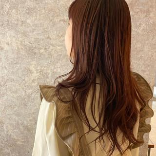 イルミナカラー ツヤ髪 透明感カラー ロングヘア ヘアスタイルや髪型の写真・画像