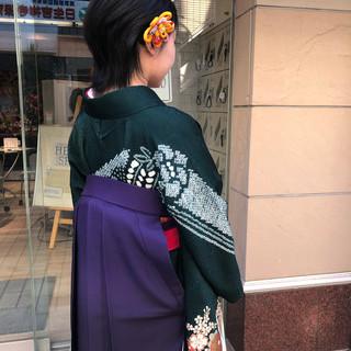 袴 モード ウルフカット ショートヘア ヘアスタイルや髪型の写真・画像