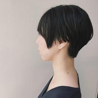 ショートヘア 大人女子 モード 黒髪 ヘアスタイルや髪型の写真・画像