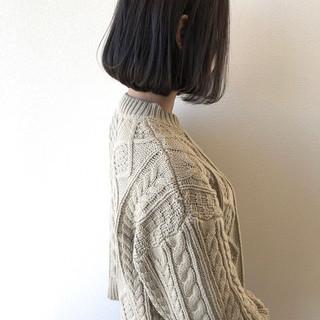ワンカール ミニボブ まとまるボブ ダークトーン ヘアスタイルや髪型の写真・画像