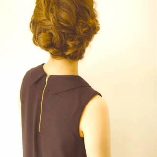ヘアアレンジ ガーリー 大人女子 ミディアム ヘアスタイルや髪型の写真・画像
