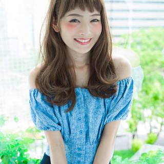 フェミニン グラデーションカラー 外国人風 セミロング ヘアスタイルや髪型の写真・画像