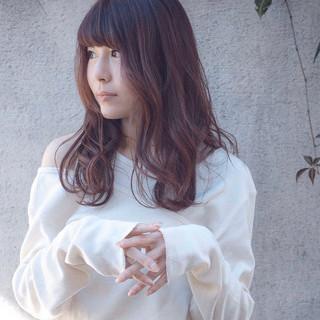 ロング ぱっつん 大人かわいい 社会人 ヘアスタイルや髪型の写真・画像