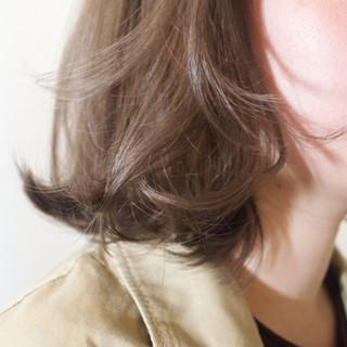 ボブ ハイライト ワンカール ナチュラル ヘアスタイルや髪型の写真・画像
