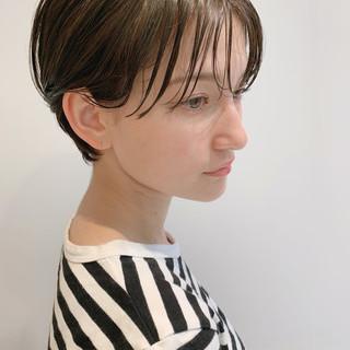簡単ヘアアレンジ エレガント 黒髪 ショート ヘアスタイルや髪型の写真・画像