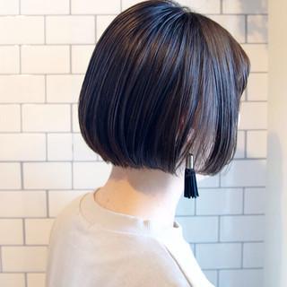 ショートボブ モテボブ ミニボブ ナチュラル ヘアスタイルや髪型の写真・画像