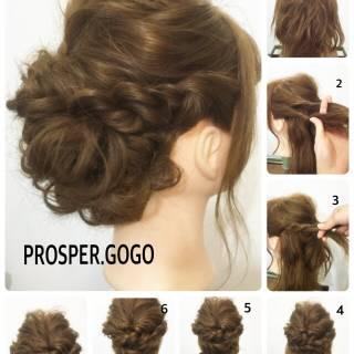 簡単ヘアアレンジ セルフヘアアレンジ 愛され コンサバ ヘアスタイルや髪型の写真・画像