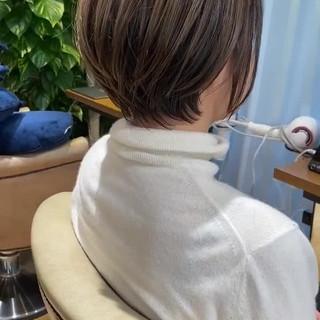 大人ハイライト ショートボブ 小顔ショート ショート ヘアスタイルや髪型の写真・画像