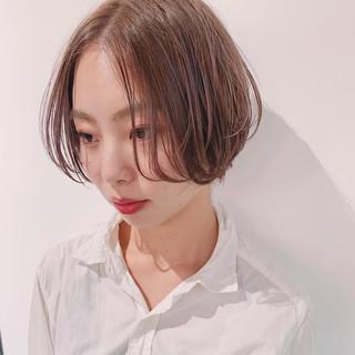 ショート アンニュイほつれヘア ハンサムショート 透明感カラー ヘアスタイルや髪型の写真・画像