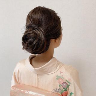和装ヘア 結婚式ヘアアレンジ お呼ばれ 着物 ヘアスタイルや髪型の写真・画像