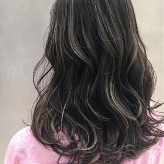 透明感 ミディアム ストリート ハイライト ヘアスタイルや髪型の写真・画像