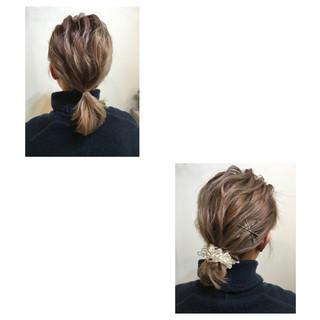 簡単ヘアアレンジ ボブ ルーズ ヘアアレンジ ヘアスタイルや髪型の写真・画像