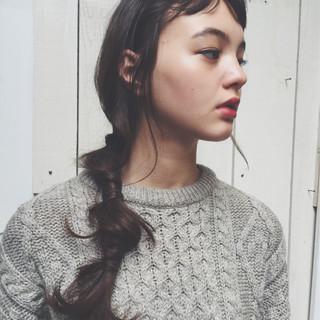 外国人風 前髪あり ヘアアレンジ ゆるふわ ヘアスタイルや髪型の写真・画像