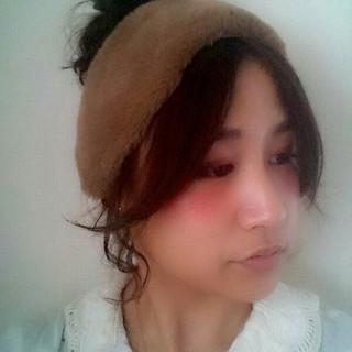 お団子 大人女子 ボブ ヘアアレンジ ヘアスタイルや髪型の写真・画像