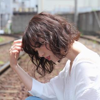 ベージュカラー アッシュベージュ ボブ イルミナカラー ヘアスタイルや髪型の写真・画像