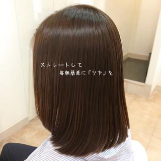 セミロング ツヤ ストレート サラサラ ヘアスタイルや髪型の写真・画像