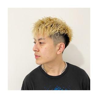 ストリート メンズパーマ メンズヘア ショート ヘアスタイルや髪型の写真・画像