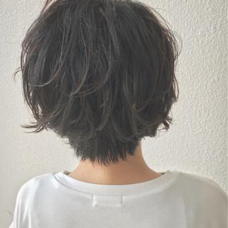 ショートボブ ゆるふわ ショート エアリー ヘアスタイルや髪型の写真・画像