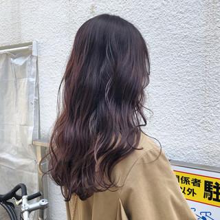 ガーリー ウェーブ アンニュイ ラベンダーピンク ヘアスタイルや髪型の写真・画像