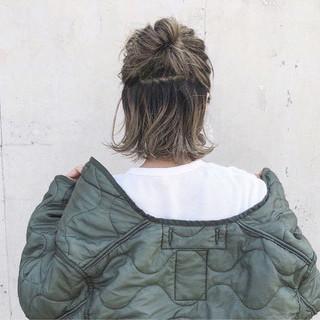 ストリート ハイライト 外国人風 ロブ ヘアスタイルや髪型の写真・画像