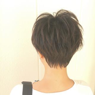 束感 似合わせ ストリート ショート ヘアスタイルや髪型の写真・画像