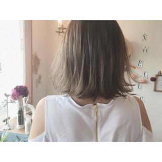 ハイライト アッシュ グラデーションカラー ストリート ヘアスタイルや髪型の写真・画像