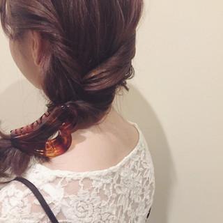 ミディアム ショート ゆるふわ ヘアアレンジ ヘアスタイルや髪型の写真・画像