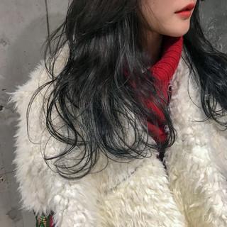 セミロング 外国人風カラー アッシュ ダブルカラー ヘアスタイルや髪型の写真・画像