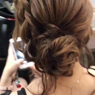ミディアム 女子力 エレガント 結婚式 ヘアスタイルや髪型の写真・画像